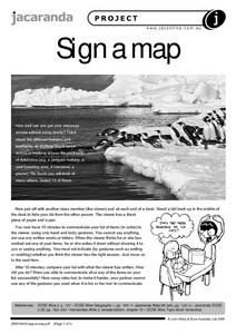Sign a Map Worksheet