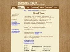 Signal Words Lesson Plan
