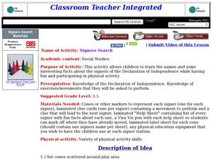 Signers Search Lesson Plan