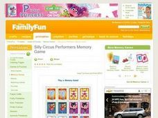 Silly Circus Performers Memory Game Lesson Plan