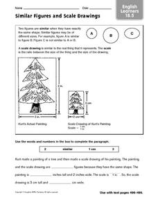 Similar Figures and Scale Drawings: English Learners Worksheet
