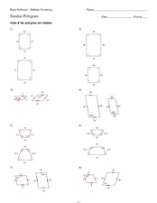 Similar Polygons 9th - 10th Grade Worksheet | Lesson Planet