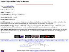 Similarly Genetically Different Lesson Plan