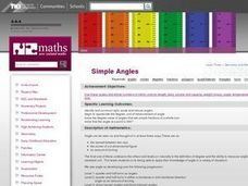 Simple Angles Lesson Plan