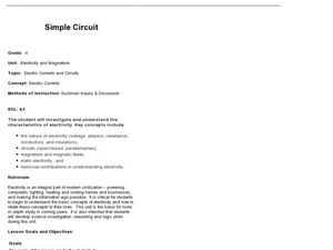 electrical circuit lesson plan 5th grade simple circuit: electric currents and circuits 4th grade ... #6