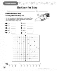 Simple Integers: Bedtime for Baby Worksheet