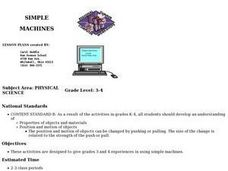 Simple Machines Classification Lesson Plan