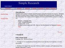 Simple Research Lesson Plan
