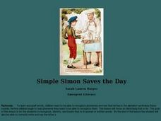 Simple Simon Saves the Day Lesson Plan