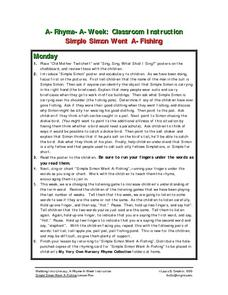 Simple Simon Went A-Fishing Lesson Plan