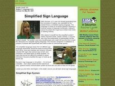 Simplified Sign Language Lesson Plan