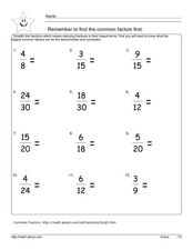 Simplify the Fractions Lesson Plan