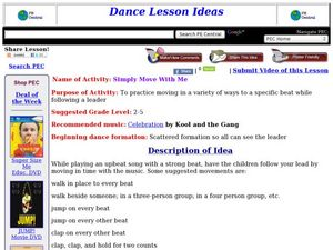 Simply Move With Me Lesson Plan