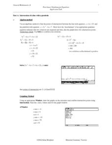 Simultaneous Equation Task Lesson Plan