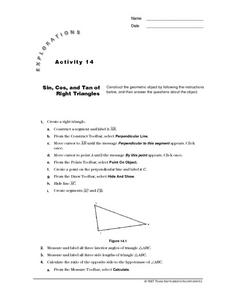 Sin, Cos, and Tan of Right Triangles Lesson Plan
