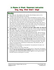 Sing, Sing, What Shall I Sing? Lesson Plan