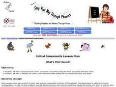 "Sing Your Way Through Phonics Lesson Plan ""What's That Sound?"" Lesson Plan"