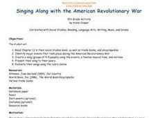 Singing Along with the American Revolutionary War Lesson Plan