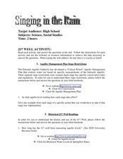 Singing in the Rain Lesson Plan