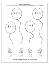 Single Digit Addition Worksheet