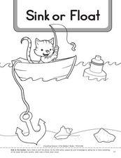 Worksheet Sink Or Float Worksheet density float or sink worksheet intrepidpath pre k kindergarten lesson pla