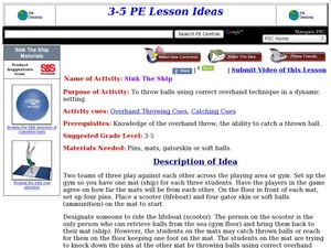 Sink The Ship Lesson Plan