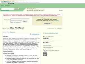 Siting Wind Power Lesson Plan