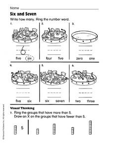 Six and Seven Worksheet