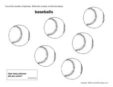 Six Baseballs Worksheet