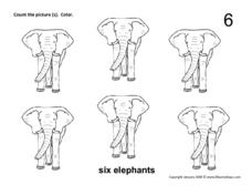 Six Elephants Worksheet