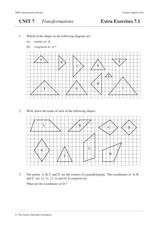 Six Exercise Sets on Transformations Worksheet