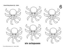 Six Octopuses Worksheet
