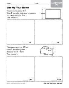 Size Up Your Room Enrichment 17.5 Worksheet