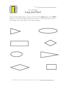 Sizes Worksheet: Long and Short Worksheet