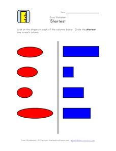 Sizes Worksheet- Shortest Worksheet