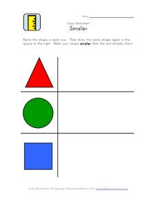 Sizes Worksheet: Smaller Worksheet
