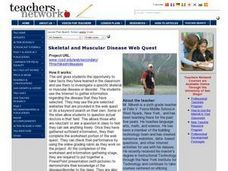 Skeletal and Muscular Disease Web Quest Lesson Plan