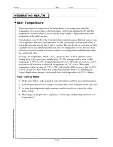 Skin Temperature Worksheet