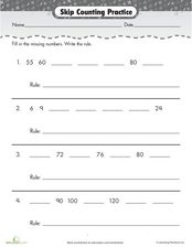 Skip Counting: Practice Worksheet