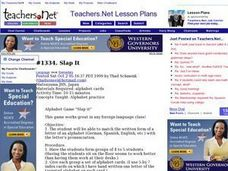 Slap It Lesson Plan
