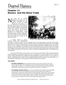 slavery and the slave trade 9th 12th grade worksheet lesson planet. Black Bedroom Furniture Sets. Home Design Ideas