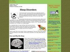 Sleep Disorders Lesson Plan