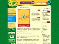 Slider Word Game Lesson Plan
