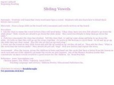 Sliding Vowels Lesson Plan