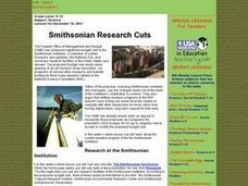 Smithsonian Research Cuts Lesson Plan