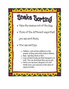 Snake Sorting Worksheet