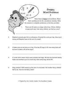Snappy Word Problems Lesson Plan