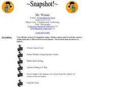 Snapshot! Lesson Plan