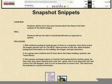 Snapshot Snippets Lesson Plan