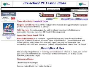 Snowball Throw Lesson Plan